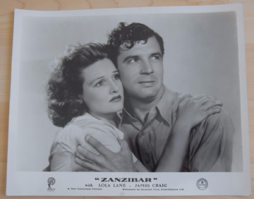 Zanzibar, Universal Pictures Still, Lola Lane James Craig, Clarence Muse '40 (k)